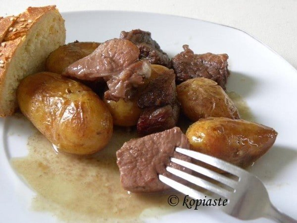 "Red Wine Potatoes (Potatoes ""Afelia"") Recipes — Dishmaps"