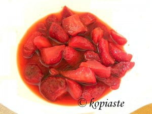 Marinated strawberries
