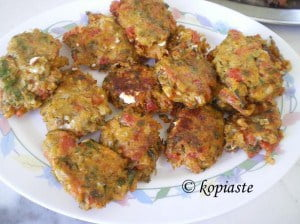 Tomato patties marked