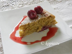 Cake with Rum Cherries