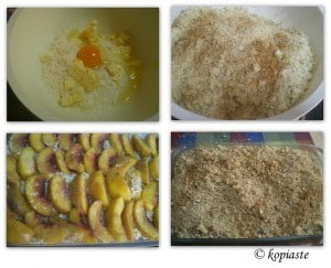 collage peach crumble