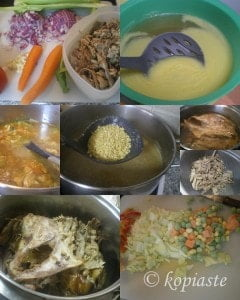 Collage Turkey soup