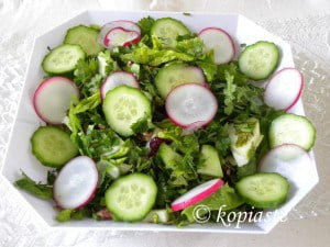 Salad with Kafkalithres and Myronia