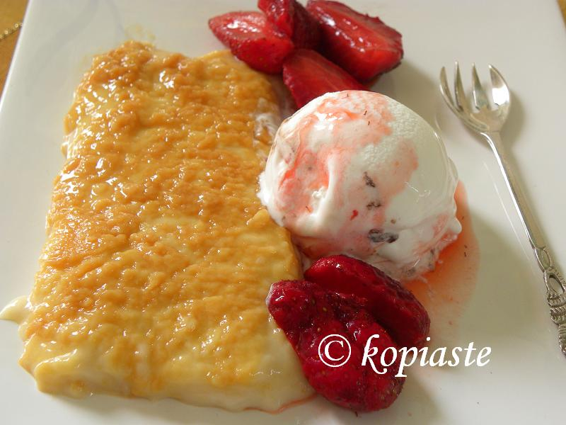 Caramelized Rice Pudding with ice cream 2 - Kopiaste..to Greek ...