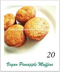 Vegan pineapple muffins, by Priya
