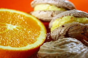 Orange Macarons marked
