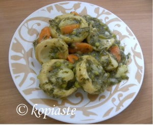 Ala Polita with Peas and Kafkalithres and myronia