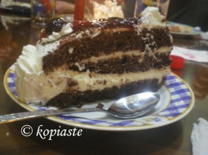 Mascarpone cream cheese black forest cut
