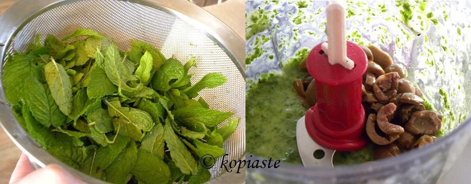 collage pesto with green olives6