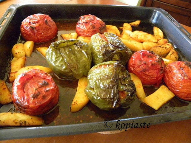 Gemista stuffed vegetables