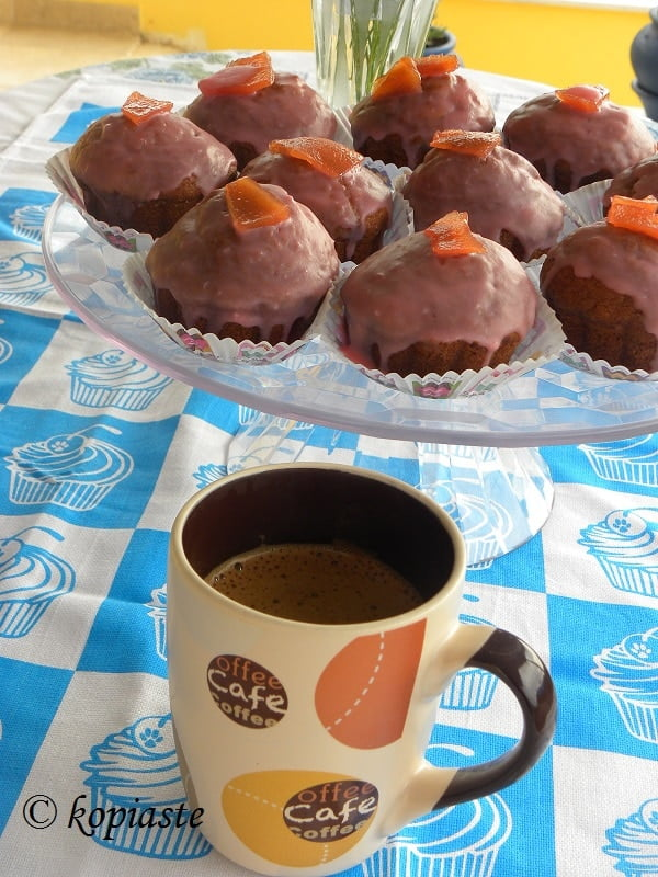 Banana Quince cupcakes and coffee