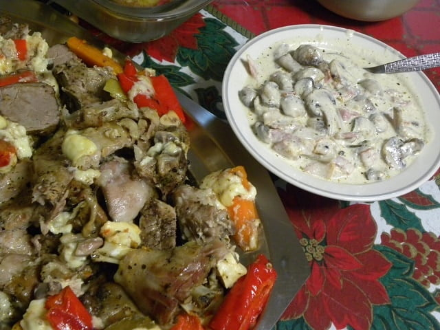 Mushrooms with bacon ala creme